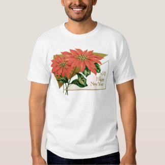 Poinsettia Christmas Flower Shirt