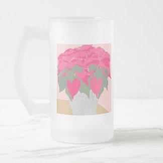 Poinsettia Christmas Frosted Mug