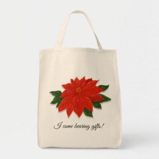 Poinsettia Christmas Gift/Presents Tote Bag