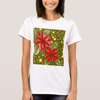 Poinsettia Christmas Holiday Shirt