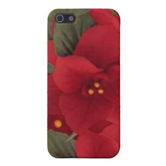 Poinsettia Christmas iPhone 4/4S Case