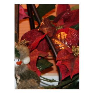 Poinsettia Christmas Post Card