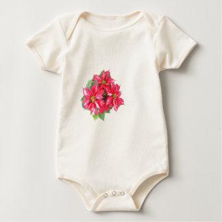 Poinsettia Christmas star Baby Bodysuit