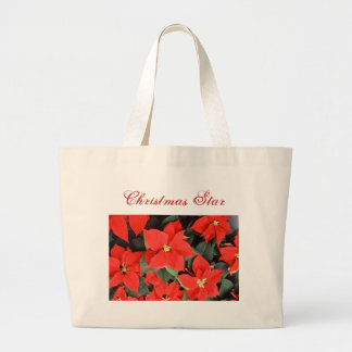 Poinsettia Christmas Star Jumbo Tote Bag