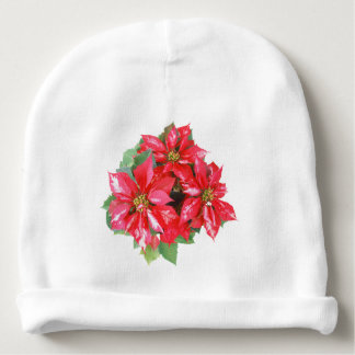 Poinsettia Christmas Star transparent PNG Baby Beanie