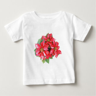 Poinsettia Christmas Star transparent PNG Baby T-Shirt