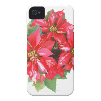 Poinsettia Christmas Star transparent PNG iPhone 4 Case-Mate Case