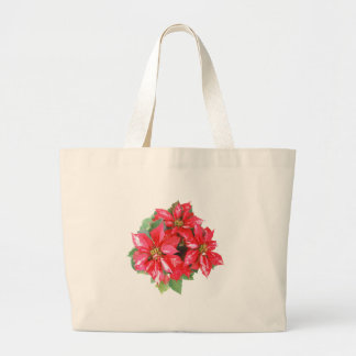 Poinsettia Christmas Star transparent PNG Large Tote Bag