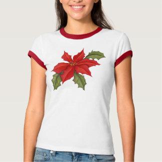 Poinsettia Christmas T-Shirt
