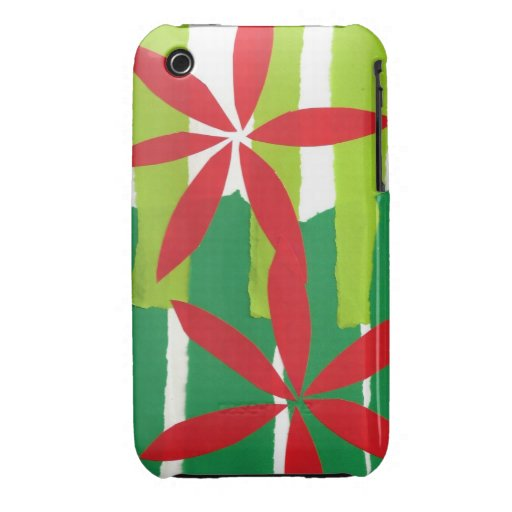 Poinsettia Collage Christmas iPhone 3 Case