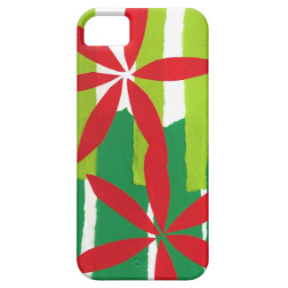 Poinsettia Collage Christmas iPhone 5 Case