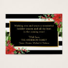 Poinsettia Floral Holiday Christmas Wishes Card