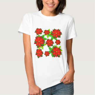 Poinsettia Flower Style Design Shirts