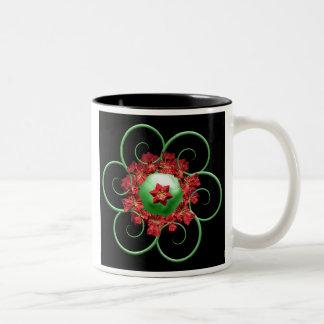Poinsettia Fractal Christmas Mug