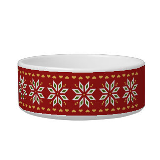 poinsettia hearts winter red Personalise-It Bowl