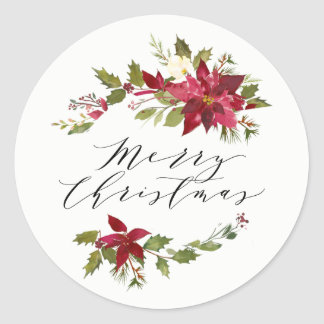 Poinsettia | Holiday Stickers