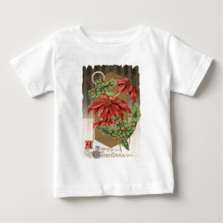 Poinsettia Holly Anchor Nautical Baby T-Shirt