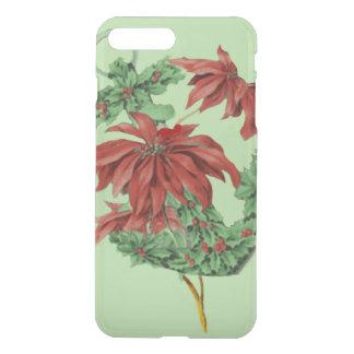 Poinsettia Holly Anchor Nautical iPhone 7 Plus Case