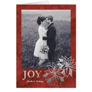 Poinsettia Joy Greeting Card