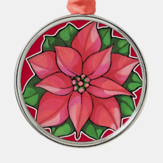 Poinsettia Joy red Holiday Premium Ornament