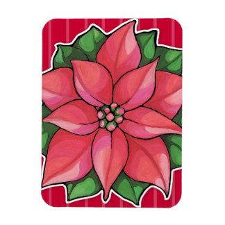 Poinsettia Joy red Premium Magnet