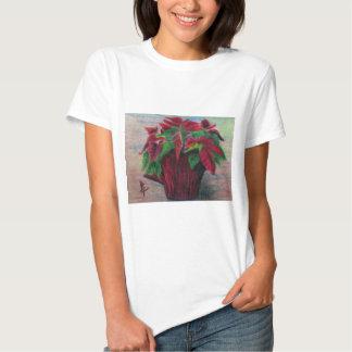 Poinsettia Ladies T-Shirt