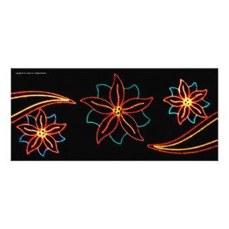 Poinsettia Lights Custom Rack Cards