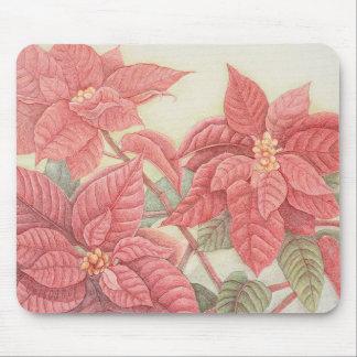 Poinsettia Mouse Mat