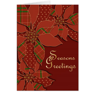 Poinsettia Patchwork Card