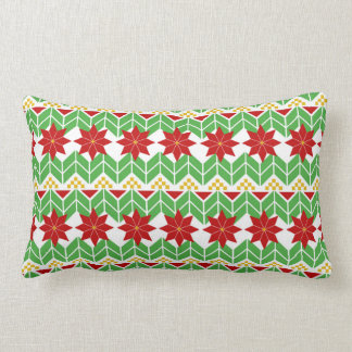 Poinsettia Pattern | Tacky Sweater | Retro Lumbar Cushion