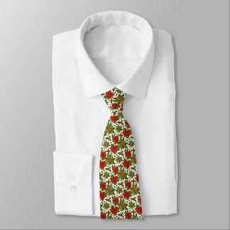 Poinsettia Pattern Tie