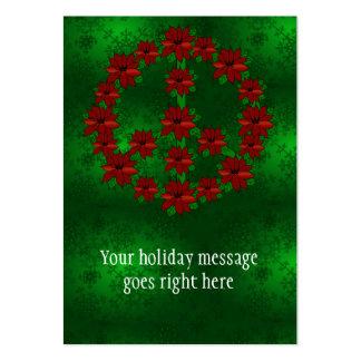 Poinsettia Peace Sign Business Card