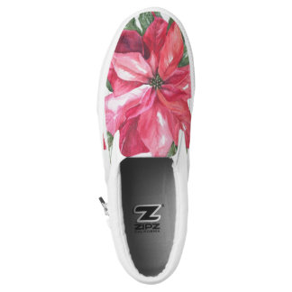 POINSETTIA PRINTED SHOES