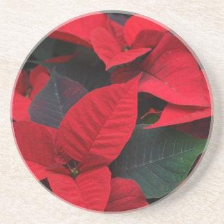 Poinsettia Tableware Beverage Coasters