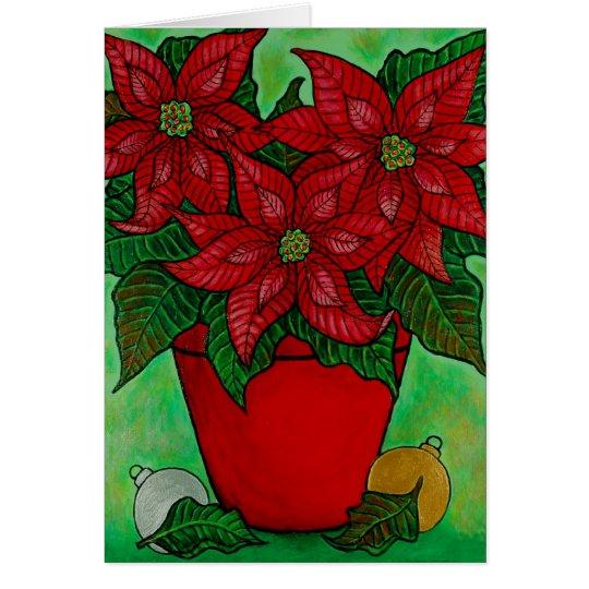 """""""Poinsettia Time"""" Christmas Card"""