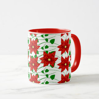 Poinsettia & Vines Holiday Coffee Mug