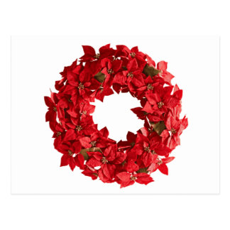 Poinsettia wreath.png postcard