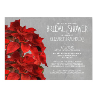 Poinsettias Bridal Shower Invitations