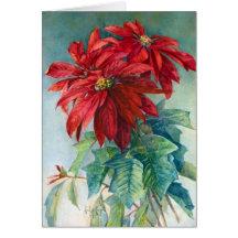 Poinsettias Christmas Greeting Card