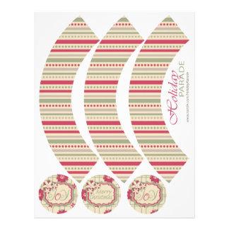 Poinsettias Cupcake Wrapper 2 21.5 Cm X 28 Cm Flyer