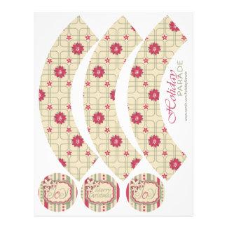 Poinsettias Cupcake Wrapper A2 21.5 Cm X 28 Cm Flyer