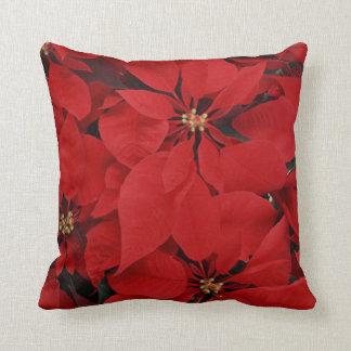 Poinsettias for Christmas Cushion