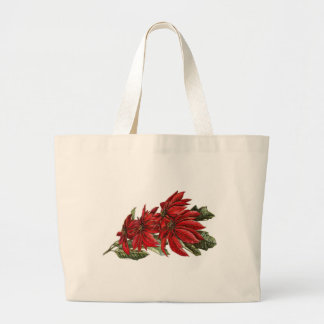 Poinsettias Large Tote Bag