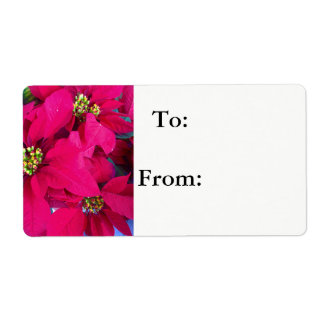 Poinsettias shipping labels