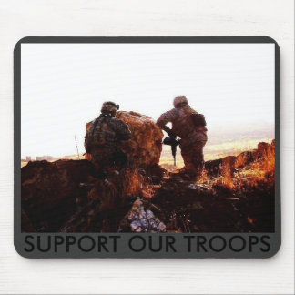 Point & Gun (4), SUPPORT OUR TROOPS Mouse Mat