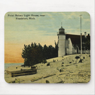 Point Betsey Lighthouse near  Frankfort Michigan Mouse Mat