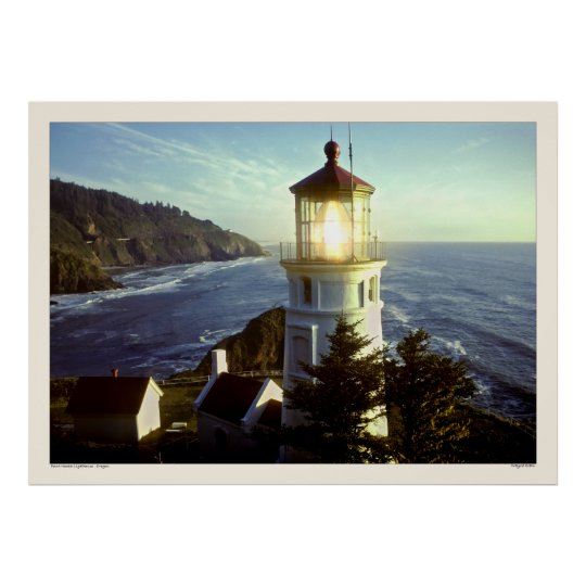 Point Heceta Lighthouse - Oregon Poster