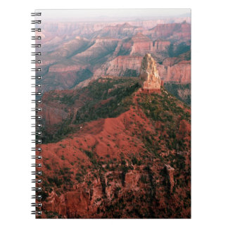 Point Imperial and Mount Hayden at Sunset Spiral Notebook