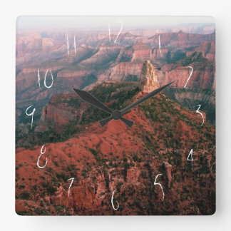 Point Imperial and Mount Hayden at Sunset Square Wall Clock