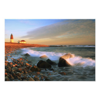 Point Judith Lighthouse Seascape Photo Print